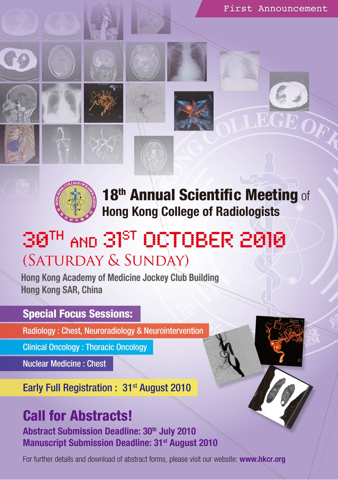 18th Annual Scientific Meeting of Hong Kong College of Radiologists