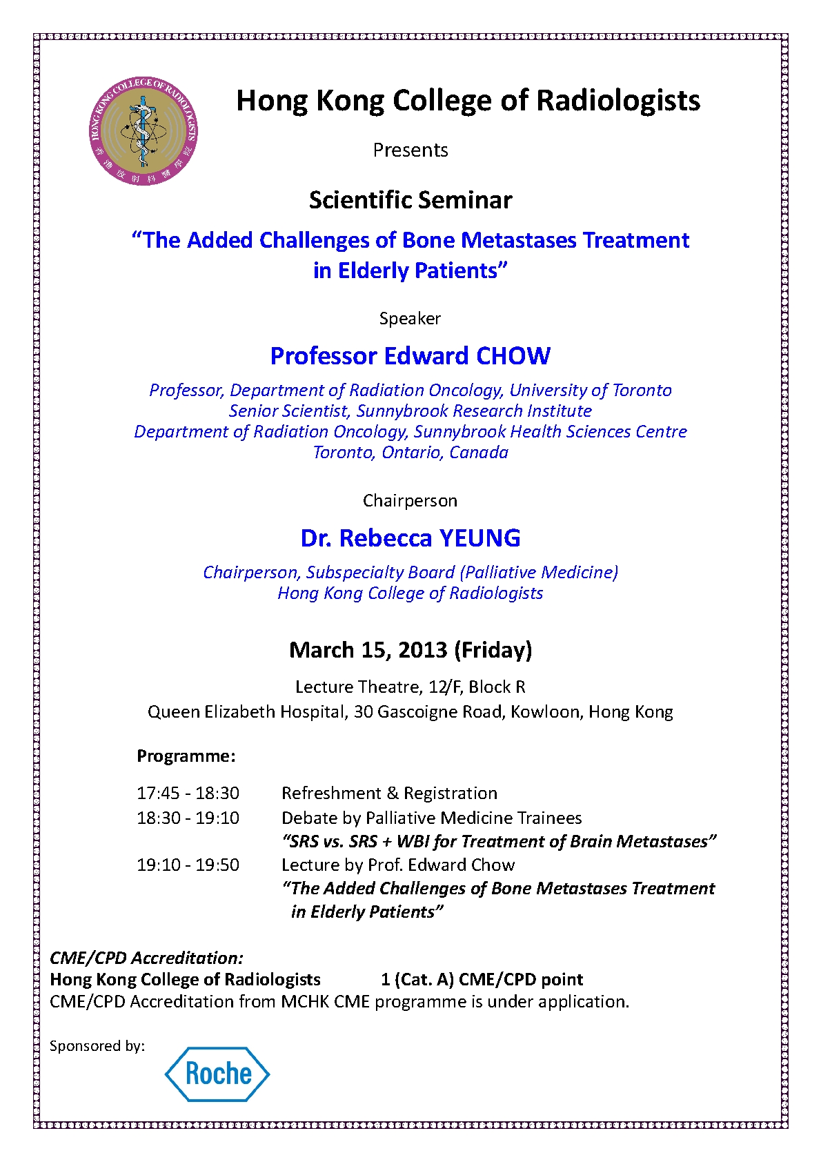 Hkam february 2013 news scientific seminar the added challenges of bone metastases treatment in elderly patients stopboris Gallery