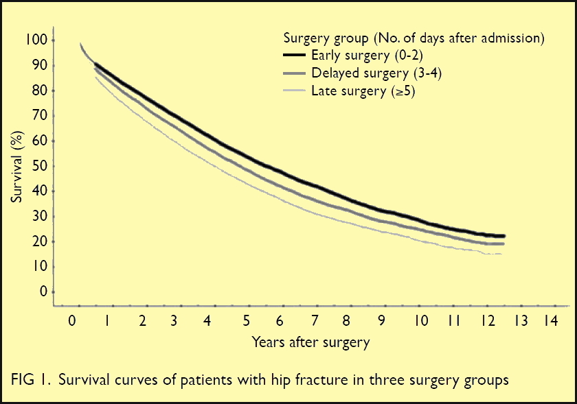 Early surgery for Hong Kong Chinese elderly patients with hip fracture reduces short-term and long-term mortality