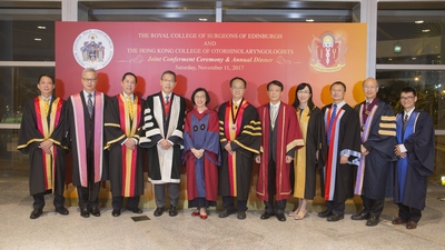 The Royal College of Surgeons of Edinburgh / The Hong Kong College of Otorhinolaryngologists - Joint Conferment Ceremony, 11 November 2017
