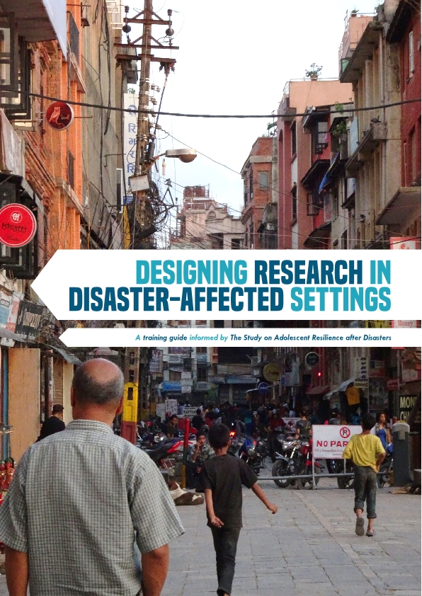 A Training Guide for Designing Research in Disaster-affected Settings now available!