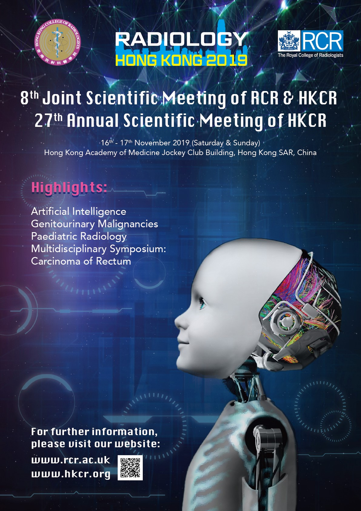 8th Joint Scientific Meeting of RCR & HKCR and 27th Annual Scientific Meeting of HKCR, 16 - 17 November 2019