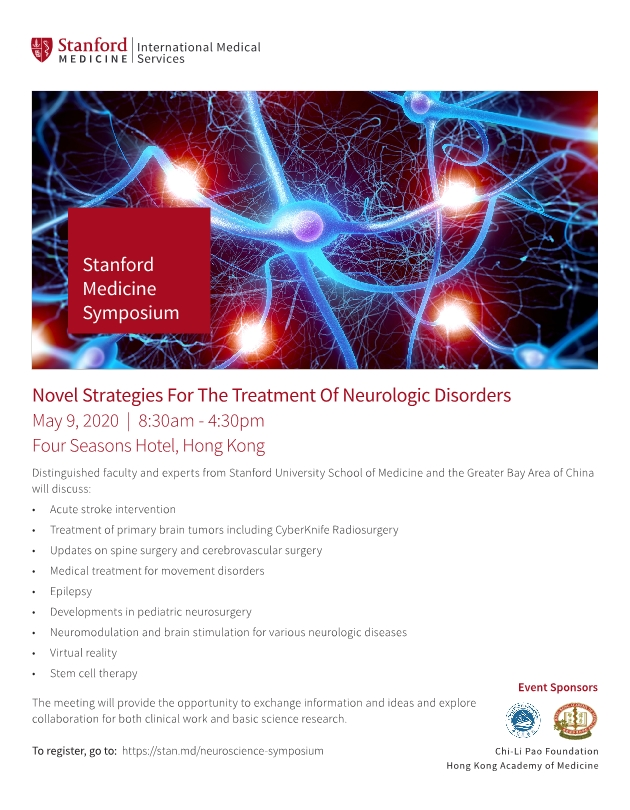 Stanford Medicine Symposium - Novel Strategies for The Treatment of Neurologic Disorders